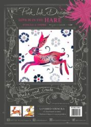 Pink Ink - Layered Stencils - Hare